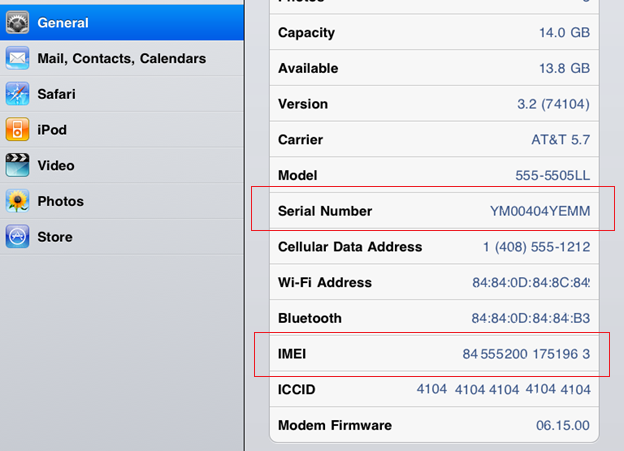 Hướng dẫn check IMEI/Serial number của iPad