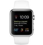 Apple Watch 42mm Stainless Steel Case with White Sport Band MJ3V2VN/A