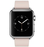 Apple Watch 38mm Stainless Steel Case with Soft Pink Modern Buckle - Small MJ362VN/A