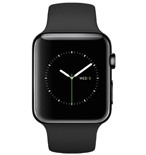 Apple Watch 42mm Space Black Stainless Steel Case with Black Sport Band MLC82VN/A