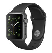 Apple Watch Sport 38mm Space Gray Aluminum Case with Black Sport Band MJ2X2VN/A