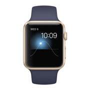 Apple Watch Sport 42mm Gold Aluminum Case with Midnight Blue Sport Band MLC72VN/A