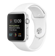 Apple Watch Sport 42mm Silver Aluminum Case with White Sport Band MJ3N2VN/A