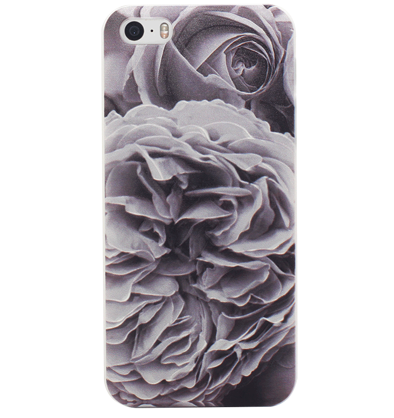 Ốp lưng iPhone 5S/SE Grey Roses