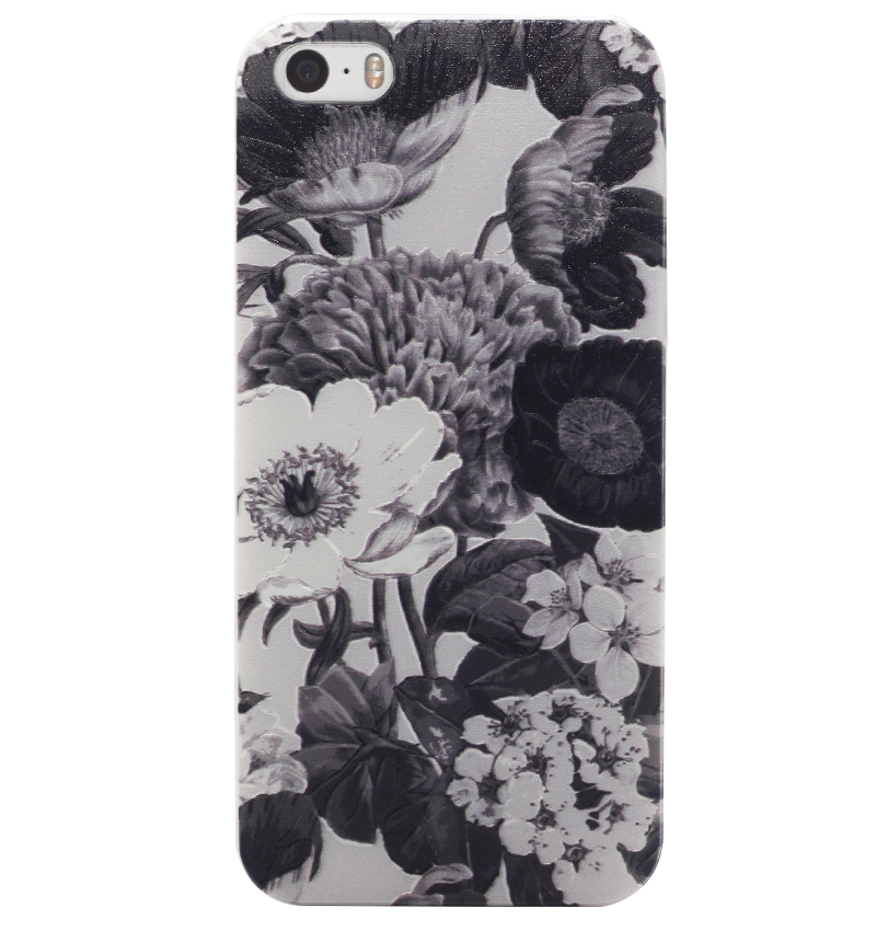 Ốp lưng iPhone 5S/SE Grey Bouquet