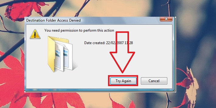 Cách fix lỗi you need permission to perform this action win 10