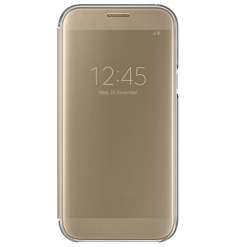 Bao da Samsung A7 2017 Clear View Gold