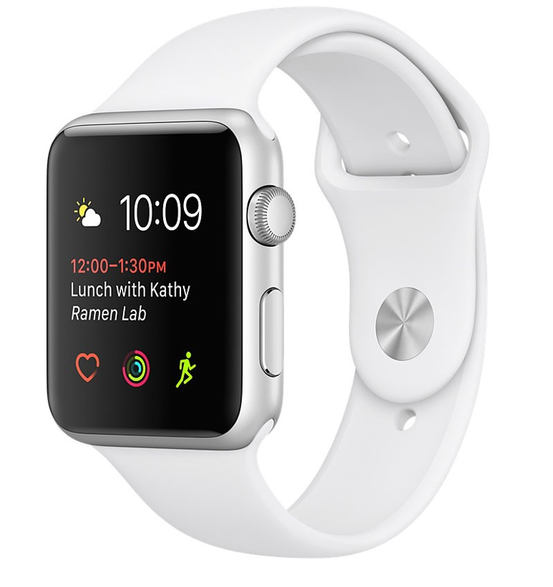 Apple Watch Series 2 38mm Silver Aluminium Case with White Sport Band
