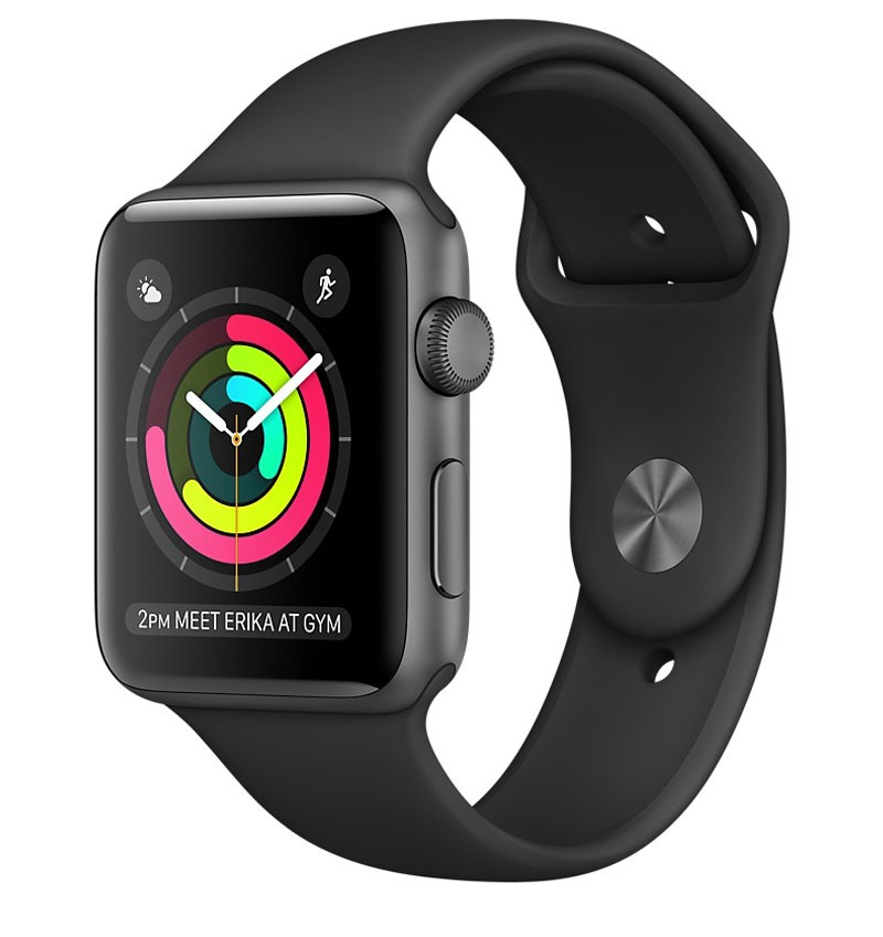 Apple Watch Series 2, 42mm Space Grey Aluminium Case with Black Sport Band