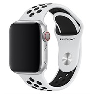 Apple Dây đeo Apple Watch 40mm Pure Platinum/Black Nike Sport Band - S/M & M/L