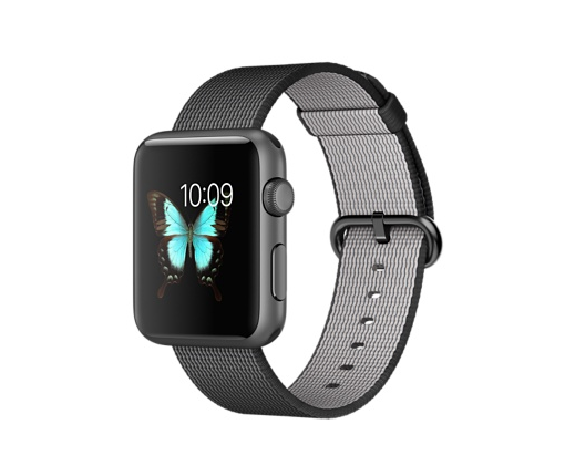 Apple Watch Sport 42mm Space Grey Aluminium Case with Black Woven Nylon MMFR2VN/A