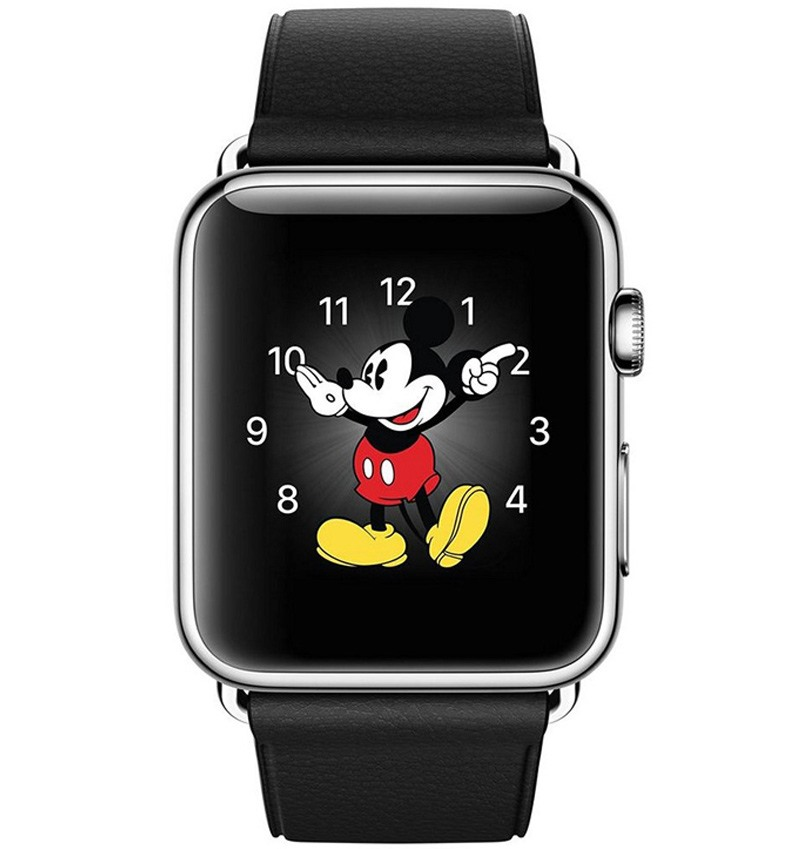 Apple Watch 42mm Stainless Steel Case with Black Classic Buckle MLFA2VN/A