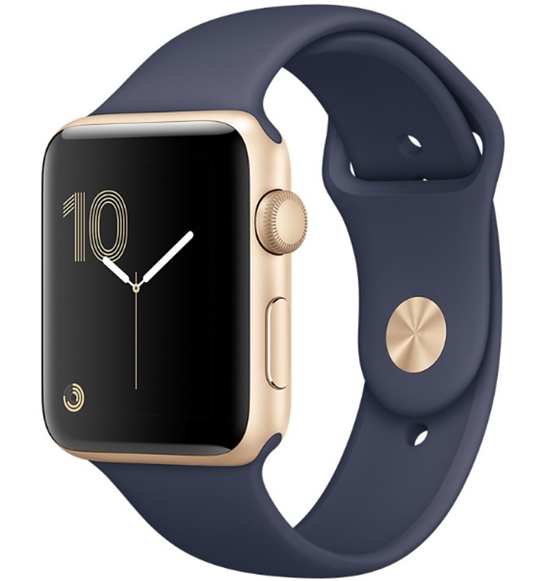 Apple Watch Series 1 42mm Gold Aluminium Case with Midnight Blue Sport Band MQ122VN/A