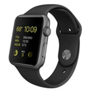 Apple Watch Sport 42mm Space Grey Aluminum Case with Black Sport Band MJ3T2VN/A