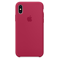 Apple Ốp lưng iPhone X  Silicon Rose Red
