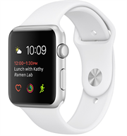 Apple Watch Series 1 38mm Silver Aluminium Case with White Sport Band MNNG2VN/A