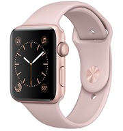 Apple Watch Series 2 38mm Rose Gold Aluminium Case with Pink Sand Sport Band MNNY2VN/A