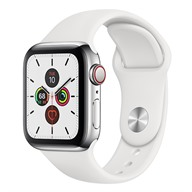 Apple Watch S5 GPS + Cellular, 40mm viền thép dây cao su