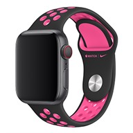 Apple Dây đeo Apple Watch 40mm Black/Pink Blast Nike Sport Band – S/M & M/L