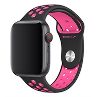 Apple Dây đeo Apple Watch 44mm Black/Pink Blast Nike Sport Band – S/M & M/L