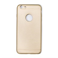 Ốp lưng iPhone 6S Plus Nhựa dẻo Glossy Carbon Fibre TPU Meetu Gold