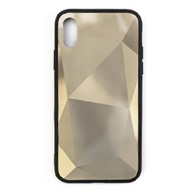 Ốp lưng iPhone XS Nhựa cứng viền dẻo Pebble PC+TPU Phone Case Meetu Gold