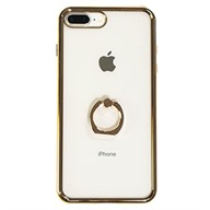 Ốp lưng iPhone 7 Plus/8 Plus Nhựa dẻo Conjoined Finger Ring Holder Case Meetu Gold