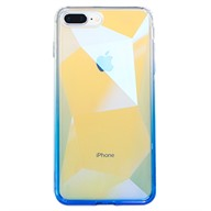 Ốp lưng iPhone 7 Plus/8 Plus Nhựa cứng viền dẻo Optical Filming Shape Color TPU & PC Meetu Xanh