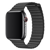 Apple Dây đeo Apple Watch 44mm Black Leather Loop - Size XL