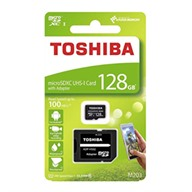Thẻ nhớ Toshiba 128GB MicroSD EXCERIA M203 UHS-1 Class 10 (R100) with Adapter