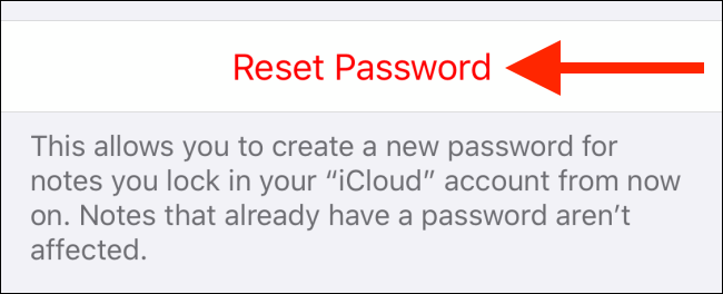 reset mật khẩu apple notes