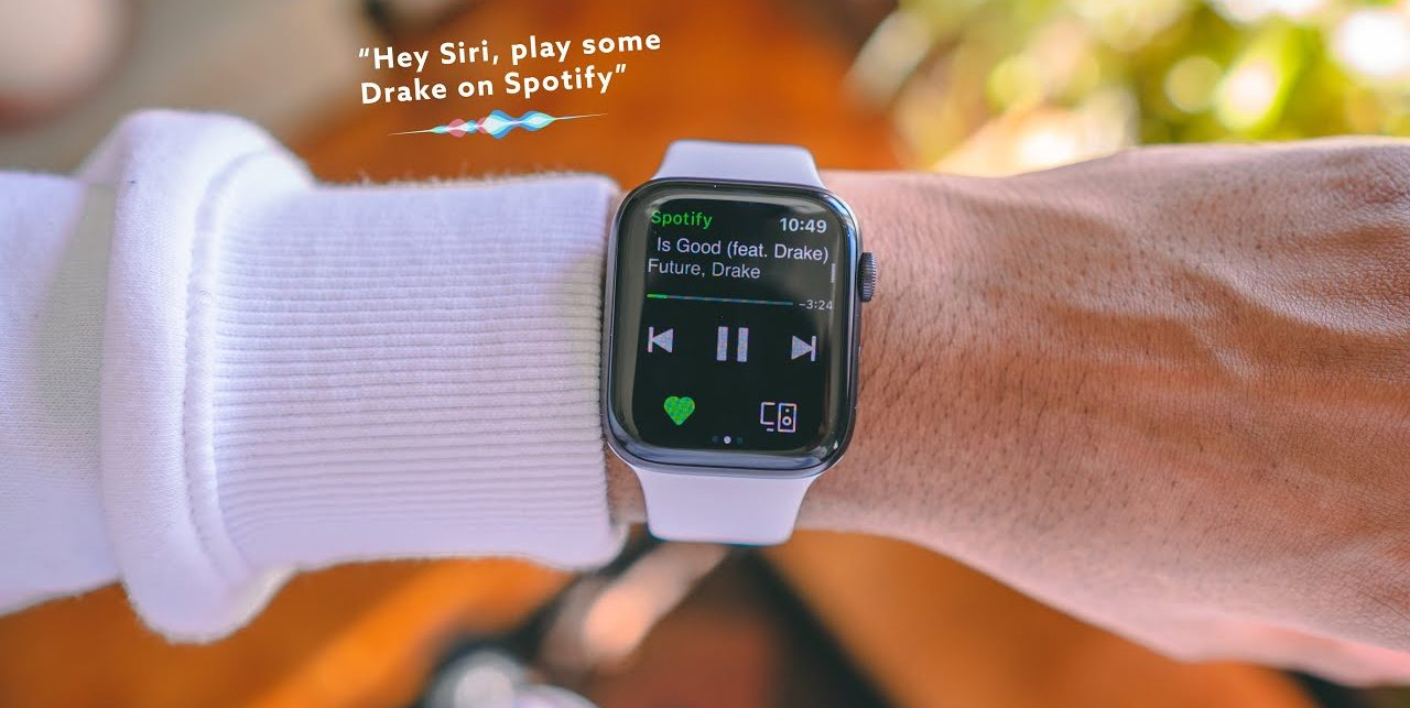Siri mở Spotify trên Apple Watch