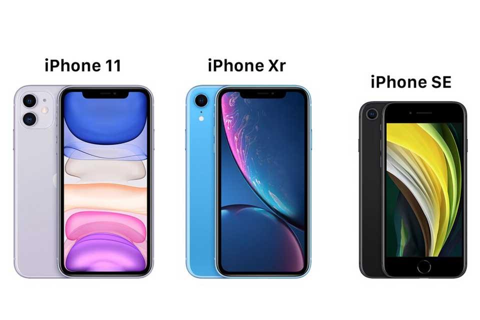 iPhone SE 2020 vs iPhone XR vs iPhone 11