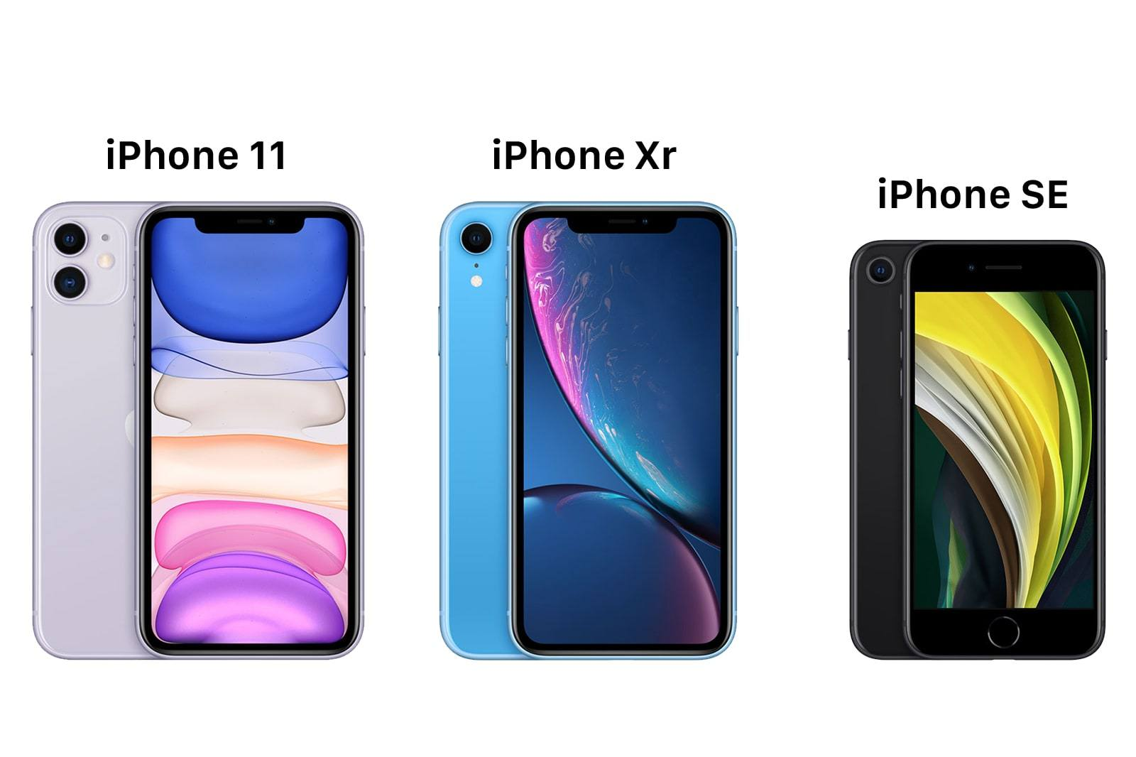 iPhone SE 2020 vs iPhone XR vs iPhone 11 01