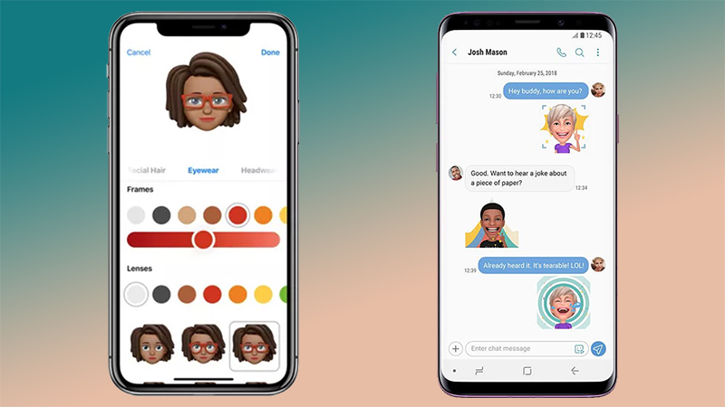 So sánh Samsung AR Emoji vs Apple Memoji 01